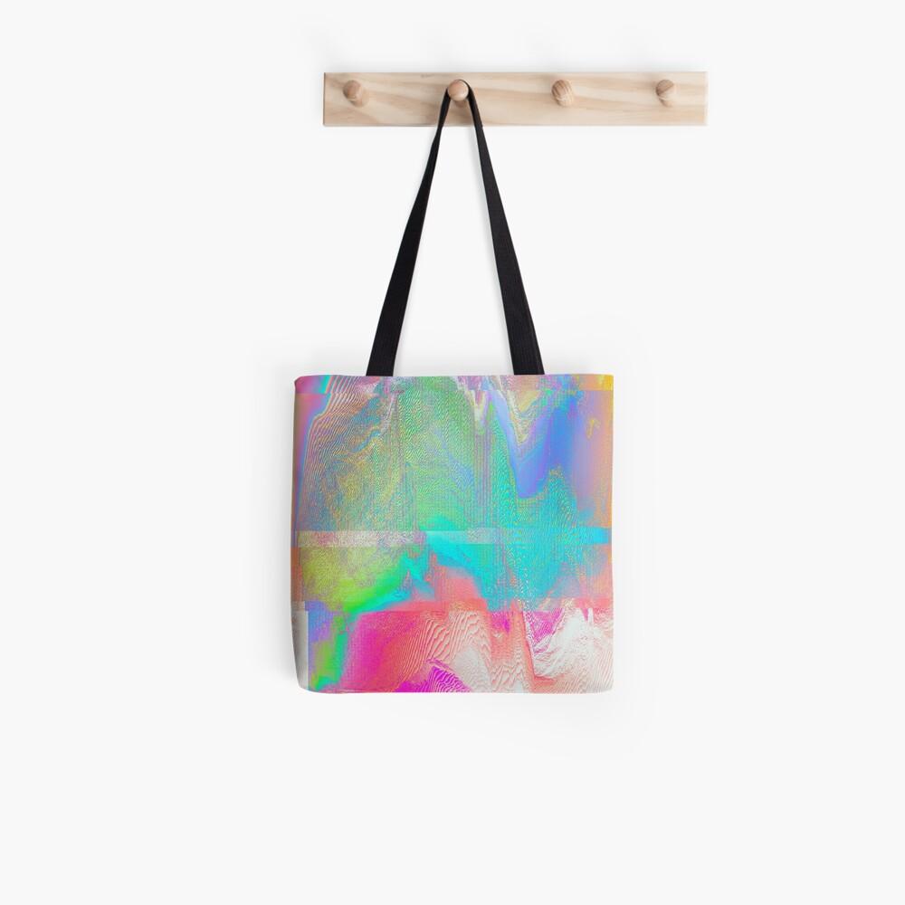 Nous Pneumatic - Glitch Holographic Art Tote Bag