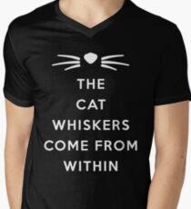WHISKERS II Men's V-Neck T-Shirt
