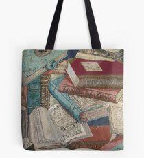 Escape With A Book Vintage Books Tote Bag