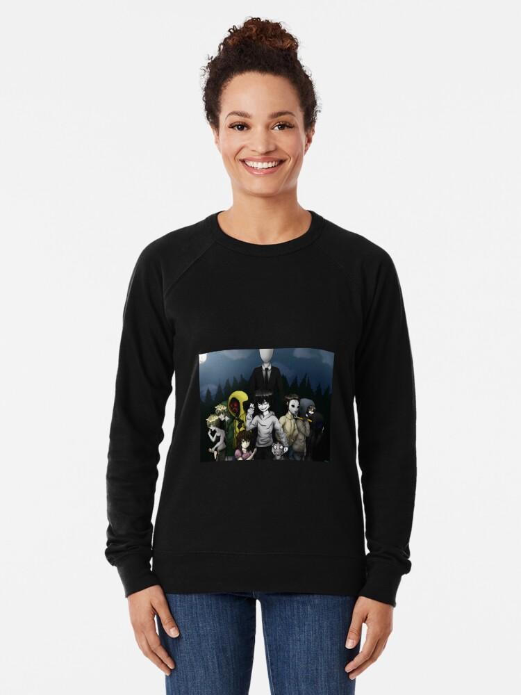 Alternate view of Creepypasta Lightweight Sweatshirt