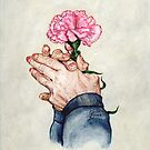 Hands of Time (Acrylic Painting) by Elaine Bawden