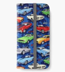 Auto Sports Muscle Cars Pattern iPhone Wallet/Case/Skin