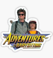 Stranger Things Steve and Dustin's Adventures in Babysitting Sticker