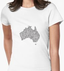 Bike Australia  Womens Fitted T-Shirt