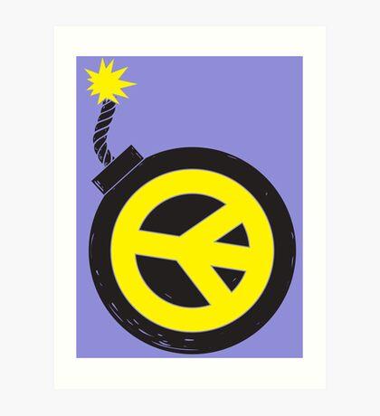 Peace Bomb Art Print
