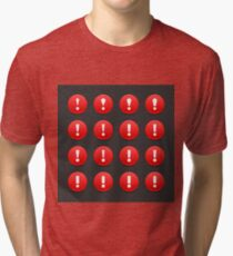 Exclamation Mark Icons Tri-blend T-Shirt