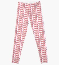 Fringed Coca Cola Sign Leggings