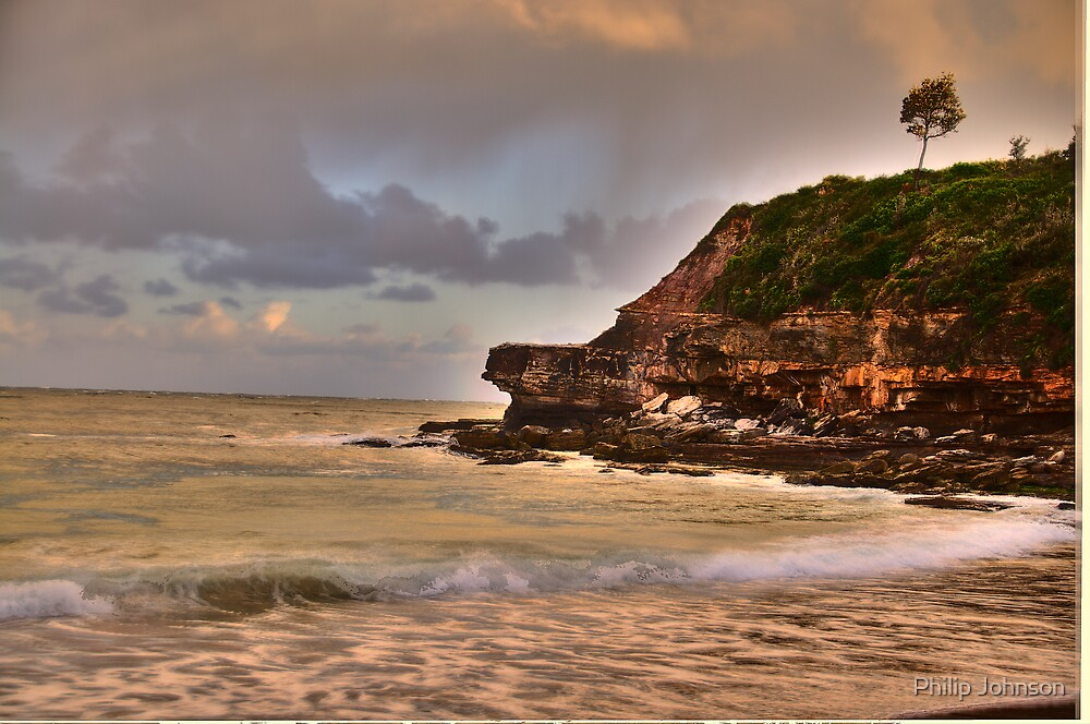 Light On The Point - Warriewood Beach - The HDR Series by Philip Johnson
