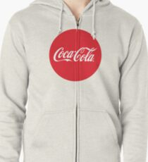 Coca-Cola Bottle Cap Design Zipped Hoodie