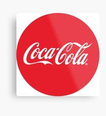 Coca-Cola Bottle Cap Design Metal Print