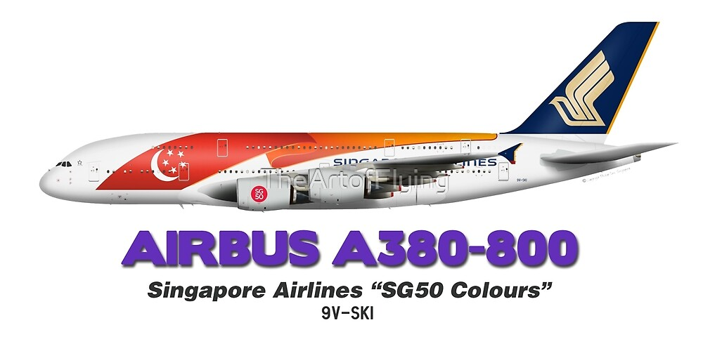 """Airbus A380-800 - Singapore Airlines """"SG50"""" by TheArtofFlying"""