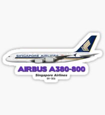 Airbus A380-800 - Singapore Airlines Sticker