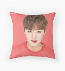 Wanna One | Park Jihoon (공원 지훈) Kiss Innisfree Lip Lipbalm Throw Pillow