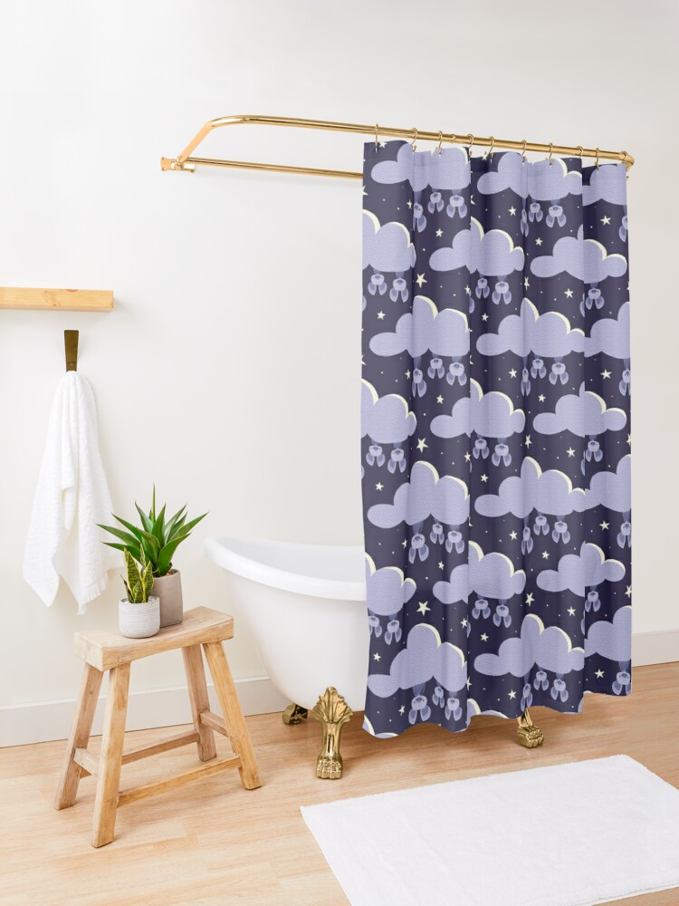 Alternate view of Dreaming bats Shower Curtain
