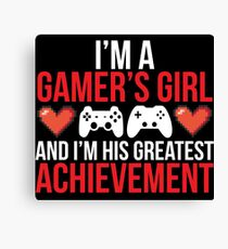 Gamers Girl Cute Video Game T-shirt Canvas Print