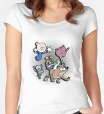 Regular show Women's Fitted Scoop T-Shirt