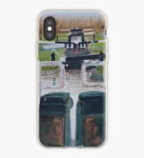 Looking down Hurleston locks from lock No 2 iPhone Case