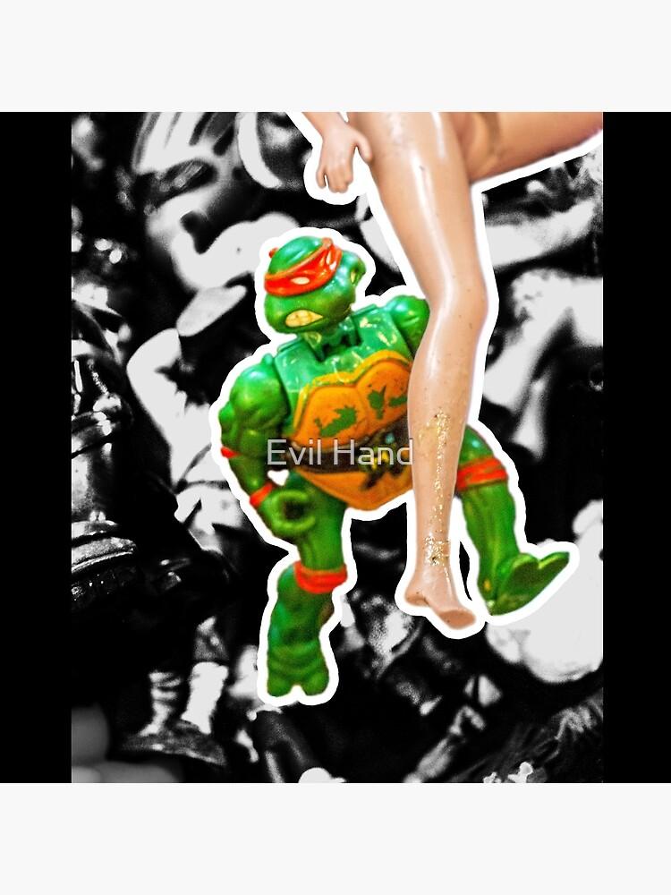 Die Teenage Mutant Ninja Turtles und Barbie von Digestionmonde