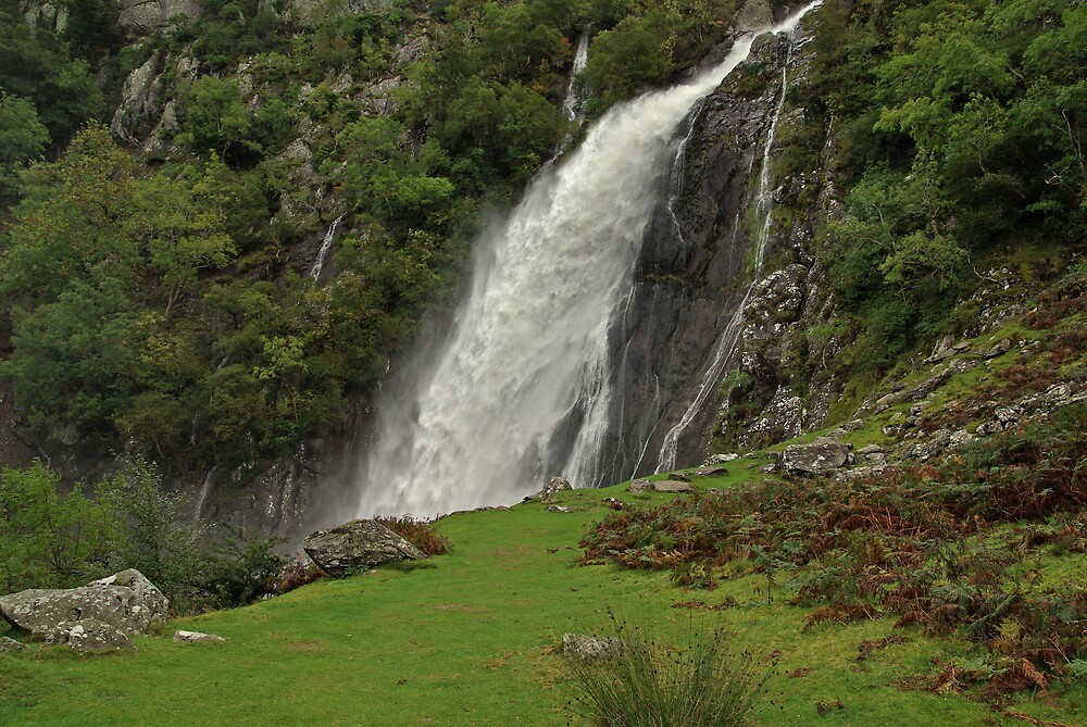 Aber Falls, North Wales by ludek
