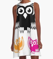 Vector Owl A-Line Dress