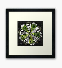 Allah &Muhammad Names Design  in Circle Framed Print