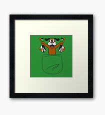Hunt pocket Framed Print