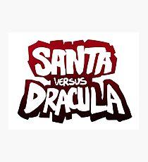 """Santa vs Dracula"" Graphic Novel logo Photographic Print"