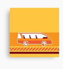 Orange Van Canvas Print