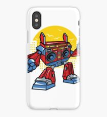 Transforming Boom Box Parody Cartoon Character iPhone Case/Skin