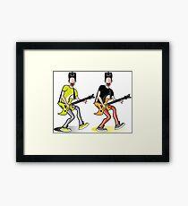 RockStar Cartoon Framed Print
