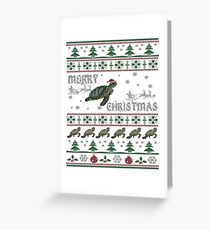 Sea Turtle Ugly Christmas Sweater Greeting Card