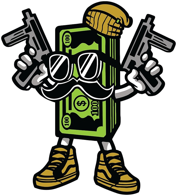 Cartoon Characters Gangster : Quot gangster cash money cartoon character photographic