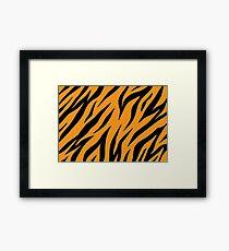 Tiger background Framed Print