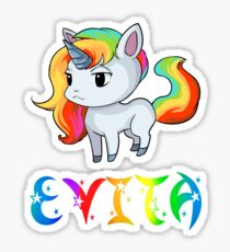 Evita Unicorn Sticker