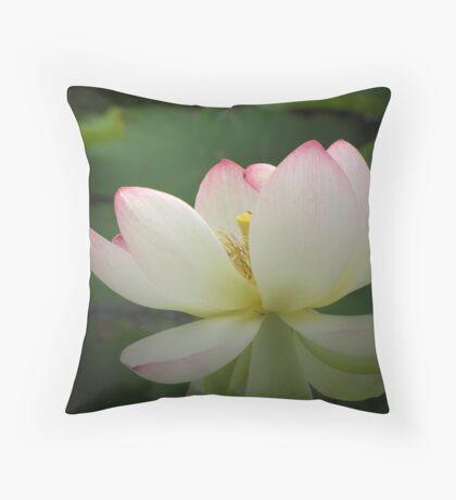 Lotus in light Throw Pillow