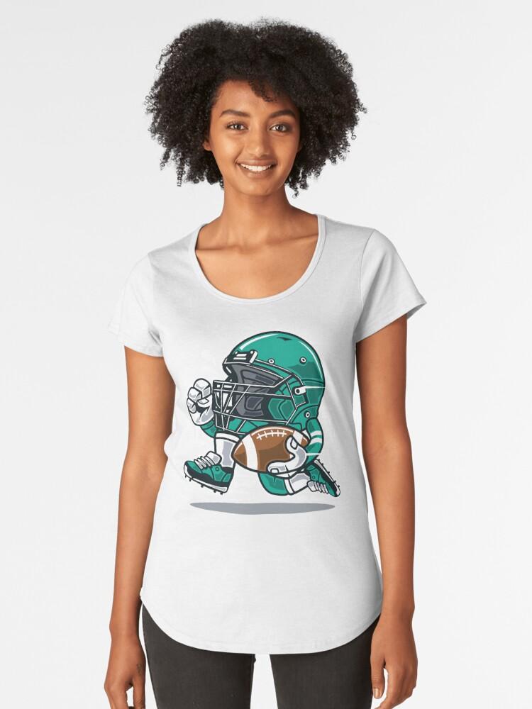 Camiseta premium para mujer «Personaje de dibujos animados jugador de fútbol  americano» de ThatMerchStore  6d30a67aa9b