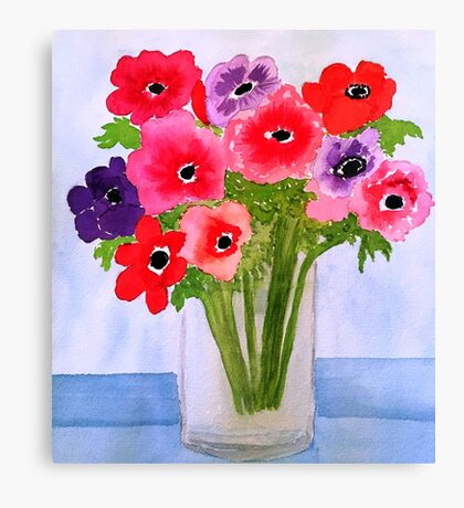 Anemone Arrangement Canvas Print