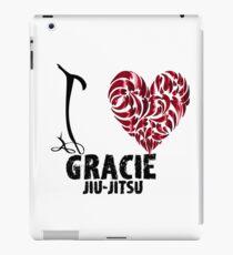 Gracie Jiu Jitsu T Shirt Design I Love Gracie Jiu Jitsu iPad Case/Skin