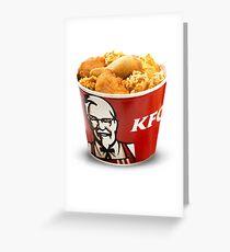 KFC - Eimer Grußkarte