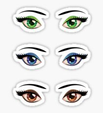 Cartoon female eyes 4 Sticker