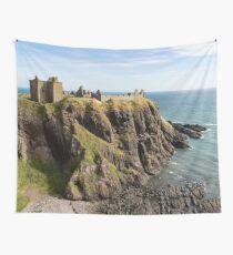 Dunnottar Castle Scotland Postcard Wall Tapestry