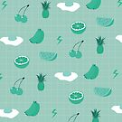 Monochrome fruit (green) by wallpaperfiles