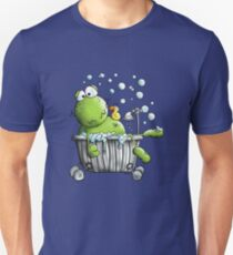 Frog In the Bathroom - Frogs - Bathtub - Bubble - Cartoon T-Shirt