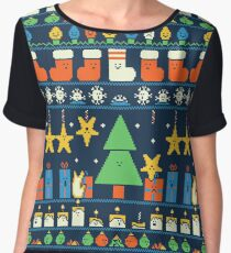 Merry Christmess Women's Chiffon Top