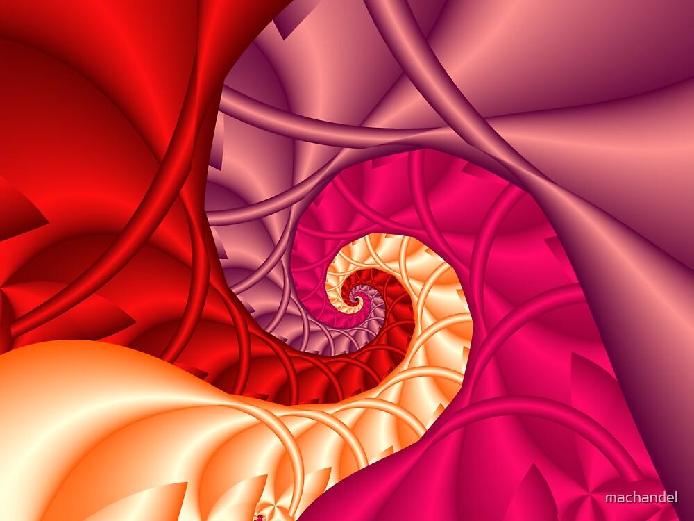 Spiral red wave by machandel