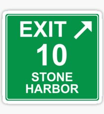 Exit 10 Stone Harbor Sticker