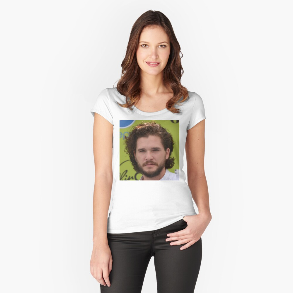 KIT HARINGTON Women's Fitted Scoop T-Shirt Front
