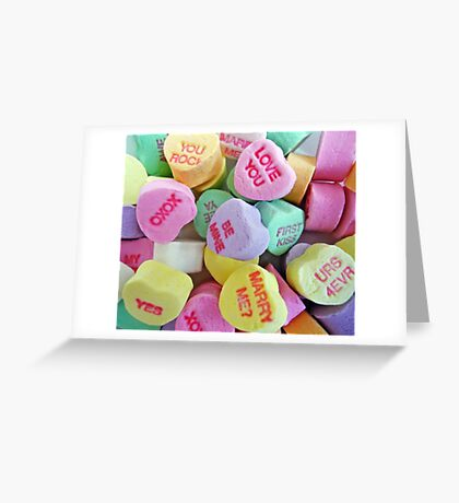 Valentine's Day Hearts Greeting Card