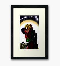 Ladynoir kiss - Miraculous Ladybug Framed Print