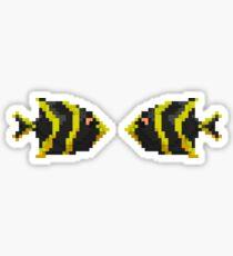 voxel fish Sticker